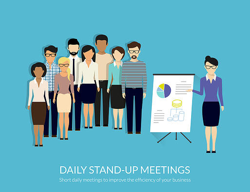 Stand-up meeting to increase efficiency